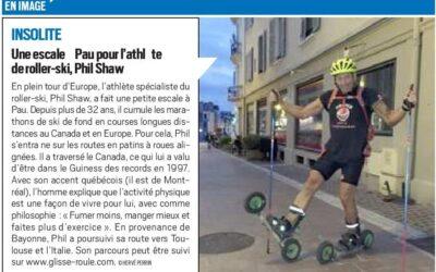 Phil paraît dans le journal local de la ville de Pau en France.